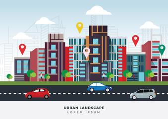 Vector illustration urban location