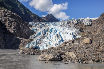 Diminishing glacier tongue