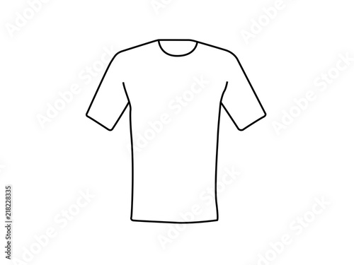 White T Shirt Empty Template Line Illustration Stock Photo And