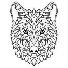 Wolf Hund geometrisch als Geometric