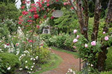 ローズガーデンと薔薇