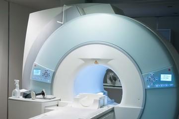 MR scanner in a hospital. Medical equipment.