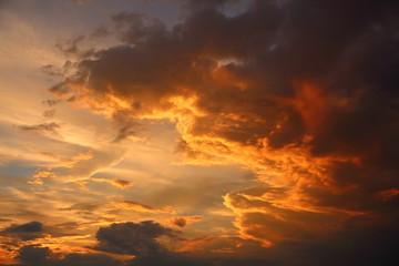 夕焼け_雲