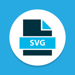 File svg icon colored symbol. Premium quality isolated document element in trendy style.