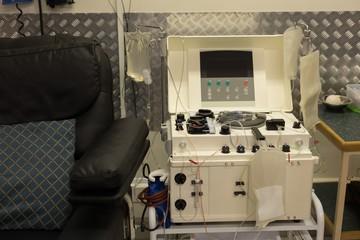 Machine in blood bank