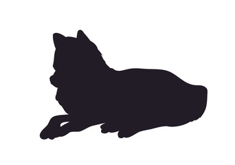 wolf lays, silhouette