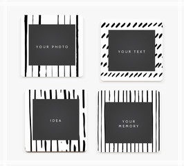 Beautiful template hand drawn frames.