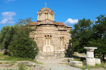 Old Church of the Holy Apostles in The Ancient Agora of Athens, Greece