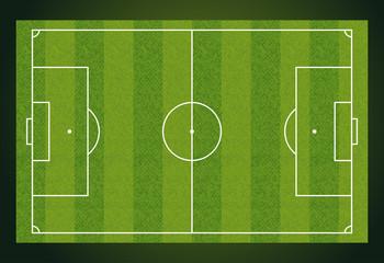 Soccer field, European Football stadium. Court for sport game. vector