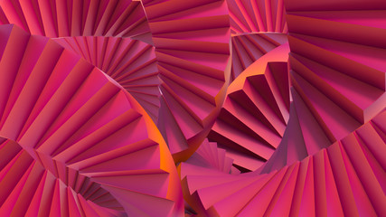 stair abstrat illusion background. 3D Illustration