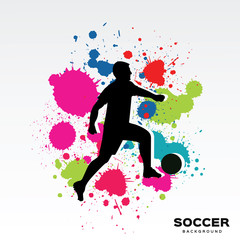 Abstract background for soccer game.