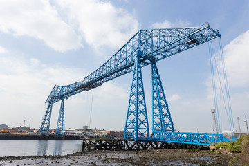 Tees Transporter Bridge in Middlesbrough, England.