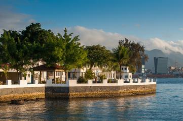 Colonial Portuguese Architecture on Ilha das Enxadas Island, Which Belongs to Brazilian Navy Forces, in Guanabara Bay, Rio de Janeiro, Brazil