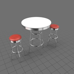 Diner table with stools