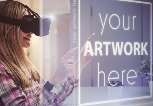 Virtual Reality Screen Mockup