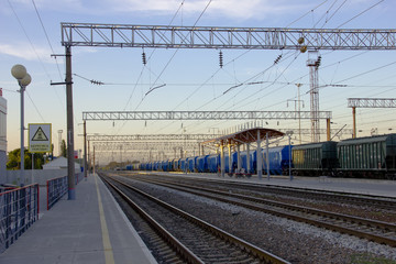 Railway station without trains