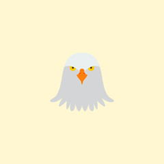 Eagle head icon flat element. Vector illustration of eagle head icon flat isolated on clean background for your web mobile app logo design.