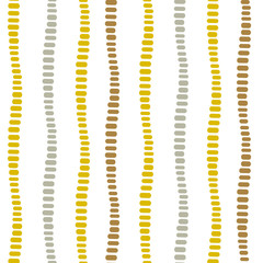 Vertical dotted decorative stripes seamless vector pattern.