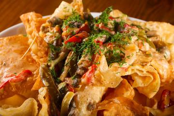 Quesadilla with sauce