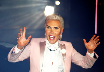 Contestant Rodrigo Alves arrives as the reality show 'Celebrity Big Brother' starts, in Elstree