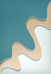 Abstract background of surfase soft waves of blue beige and white with bulk shadows