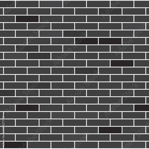 black brick wall texture- vector illustration