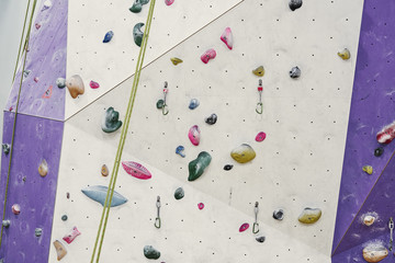 climbing wall in sport hall