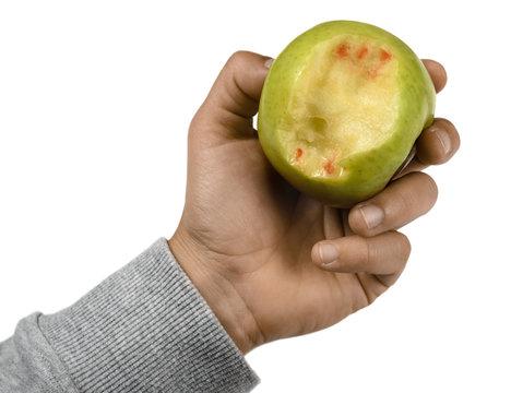 Zahnfleischbluten Zähne Gebiss Apfel Abdruck
