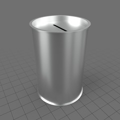 Cylindrical money box