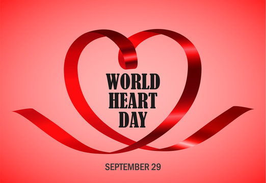 World heart day red concept background. Realistic illustration of world heart day red vector concept background for web design