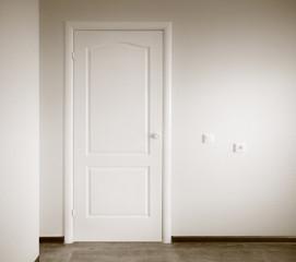 interior with closed door