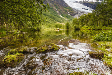 Stream in mountains, Norway.