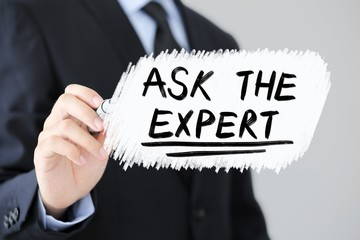 Ask The Expert Business Concept