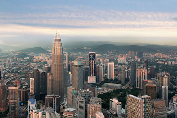 Kuala lumpur skyline before sunset, Malaysia, Kuala lumpur is capital city of Malaysia.