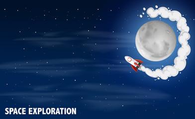Space exploration scene concept