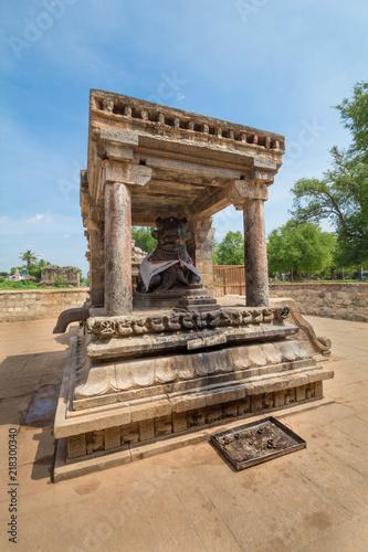 Idol of nandi see at Airavatesvara, the stone temple incorporates a