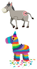 Donkey and pinata set