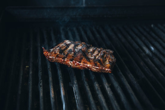 Overcooked Steak on Grill