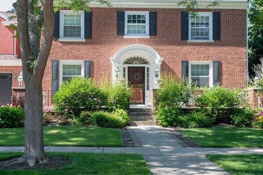 beautiful colonial style brick home in Kenosha, WI