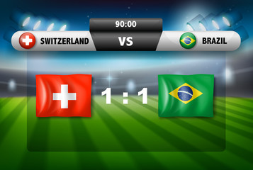 Switzerland VS brazil football match