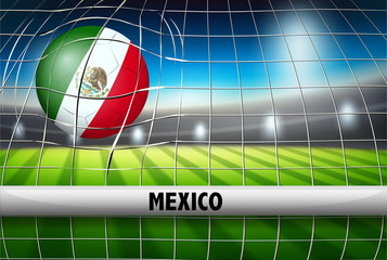 A Mexico football flag