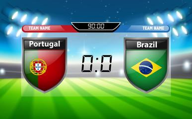 Portugal VS Brazil scoreboard