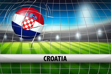 A Croatia football flag