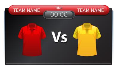 A sport scoreboard template
