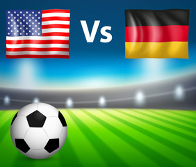 America VS Germany soccer match