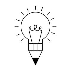 bulb pencil isolated icon