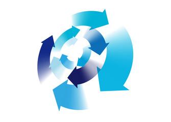 矢印 循環 グラデーション