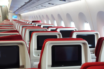 Passenger seats on the Airplane.