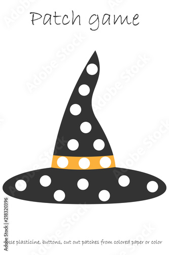 image relating to Witch Hat Printable referred to as Instruction Patch sport witch hat for youngsters towards build engine