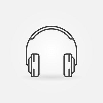On-Ear Headphones vector minimal icon in thin line style